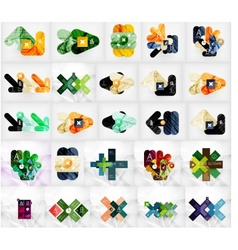 Mega collection of abstract geometric vector