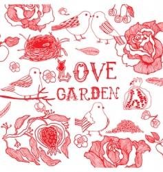 Love garden vector