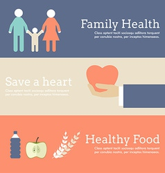 Set of flat design concept for world health day vector
