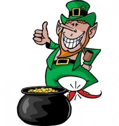 Leprechaun with pot vector