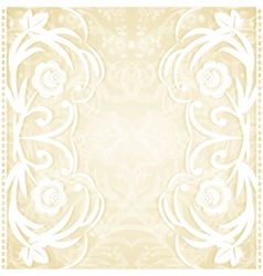 Delicate lace wedding invitation vector
