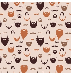 Beards and mustaches pattern vector
