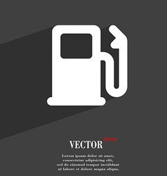 Petrol or gas station car fuel icon symbol flat vector