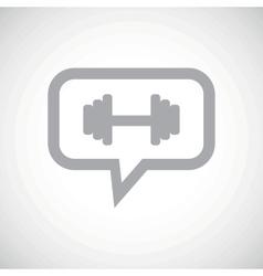 Barbell grey message icon vector
