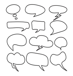 Cloud speech bubble set2 vector
