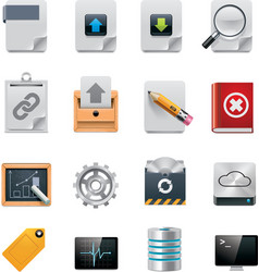 File server administration icon set vector