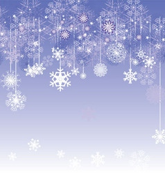 Christmas snowflake card vector