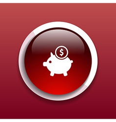 Piggy icon bank economy coin money piggy account vector