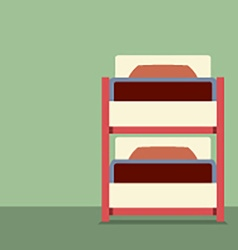 Flat design empty bunk bed vector