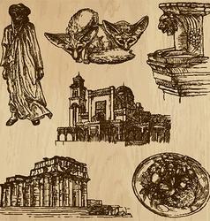Traveling libya - an hand drawn pack vector