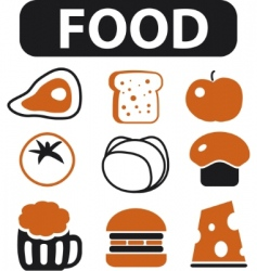 Food signs vector