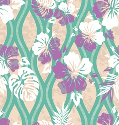Modern hawaiian shirt pattern vector
