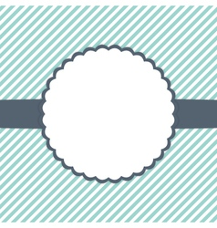 Blue mint and white template card vector