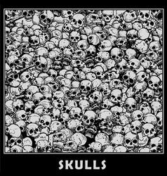 Skulls vector
