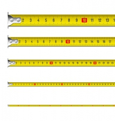 Tape measure in centimeters vector