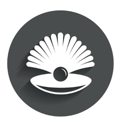Sea shell with pearl sign icon conch symbol vector