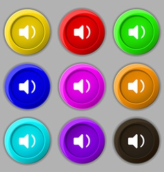 Speaker volume sound icon sign symbol on nine vector