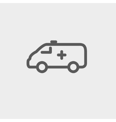 Ambulance car thin line icon vector