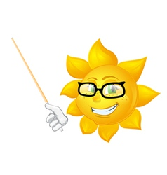 Smart sun is teaching vector