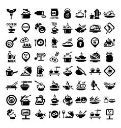 Big food icon set vector