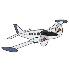 Small watch twin engine aircraft vector