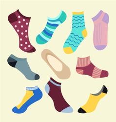 Fashion set icon of colored socks vector