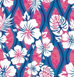 Hawaiian shirt pattern vector