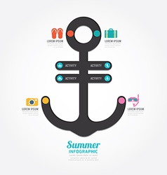 Infographics anchor design concept diagram line vector