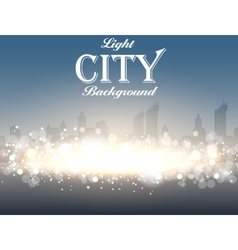 Light city background vector