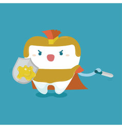 Tooth protect by warrior concept vector