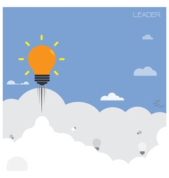 Creative light bulb with blue sky background vector