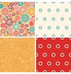 Abstract decorative circles set of four vector