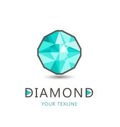 Diamond jewelry logo icon isolated vector