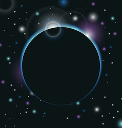 Space background with light - vector