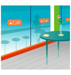 Cafe interior vector