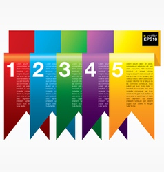 Vertical ribbon banners eps10 vector