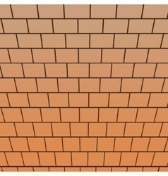 Brick wall top-down view perspective vector