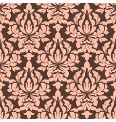 Beige and brown seamless floral pattern vector