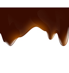 Background of liquid chocolate vector