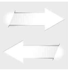Arrow paper tags vector