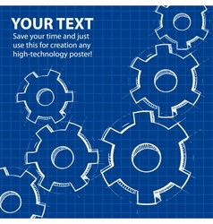 Techno blue abstract background vector