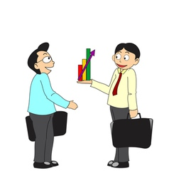 Business people discussing profit vector