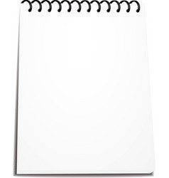 Spiral notebook stack of ring binder isolated vector