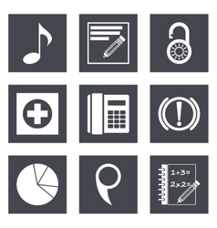 Icons for web design set 36 vector