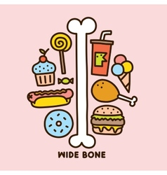Wide bone vector