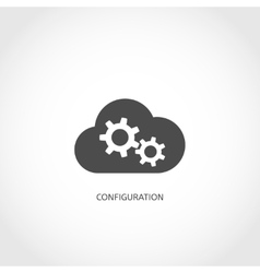 Database configuration icon vector
