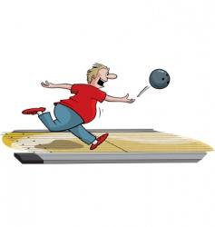 Male bowler vector