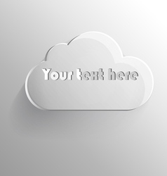 Volumetric cloud for text vector