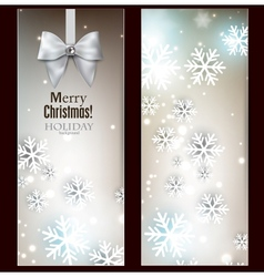 Holiday banners with ribbons background vector
