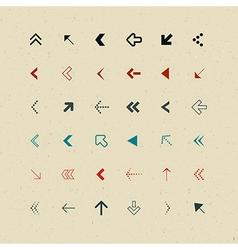 Retro arrows set vector